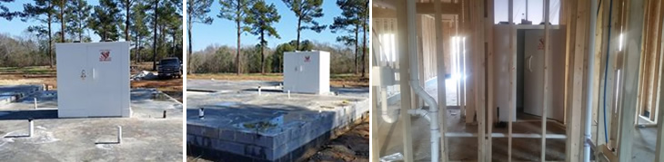 New home construction community storm shelters for Safe room builders