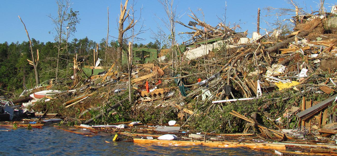lake martin tornado debris